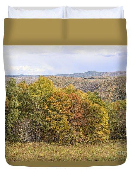 Berkshires In Autumn Duvet Cover
