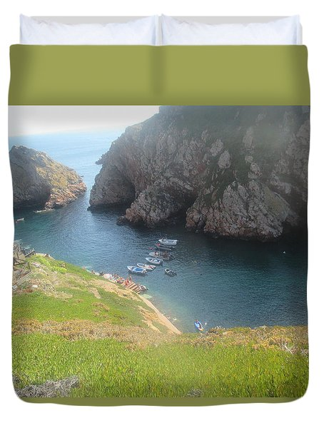 Berlengas Island Near Peniche In Portugal Duvet Cover