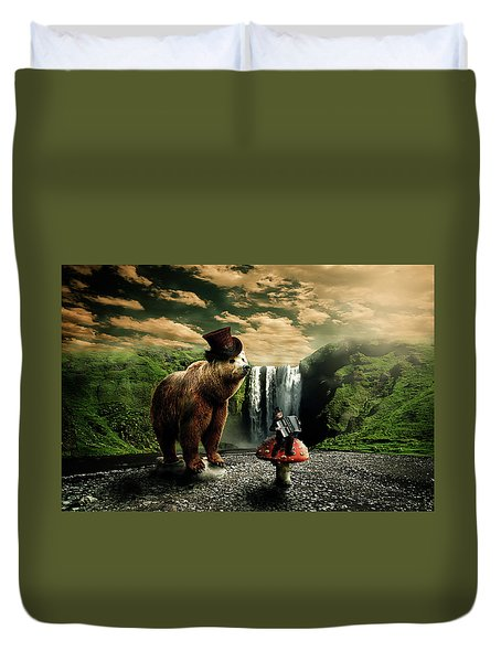 Berlin Bear Duvet Cover by Nathan Wright