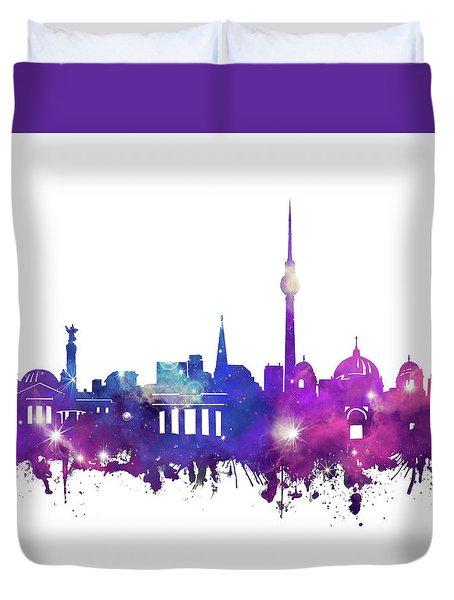 Berlin City Skyline Galaxy Duvet Cover by Bekim Art