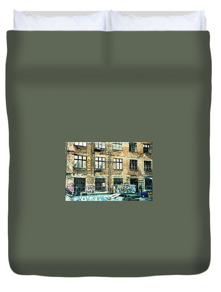 Berlin House Wall With Graffiti  Duvet Cover
