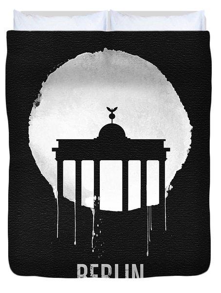 Berlin Landmark Black Duvet Cover