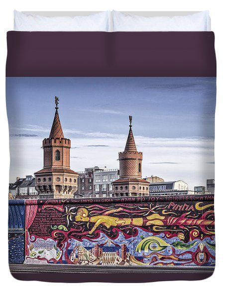 Duvet Cover featuring the photograph Berlin Wall by Juergen Held