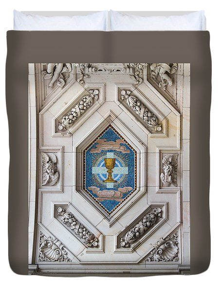 Duvet Cover featuring the photograph Berliner Dom Mosaics by Ross Henton