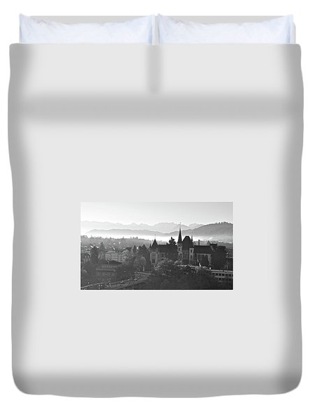 Bern In The Fog Duvet Cover