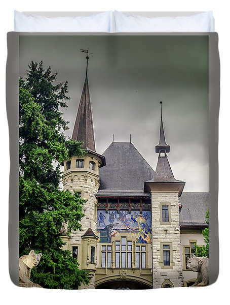 Berne Historical Museum Duvet Cover by Michelle Meenawong