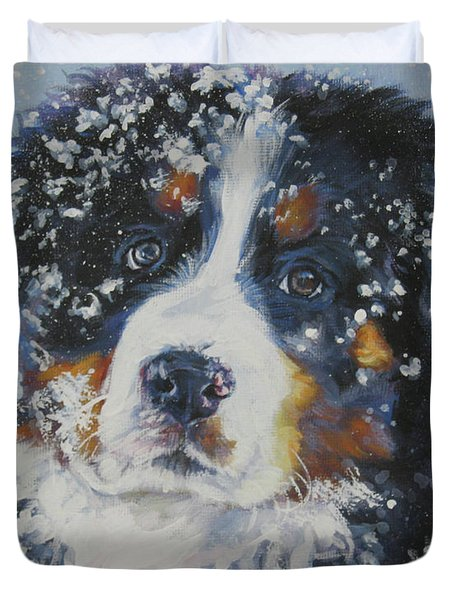 Bernese Mountain Dog Puppy Duvet Cover