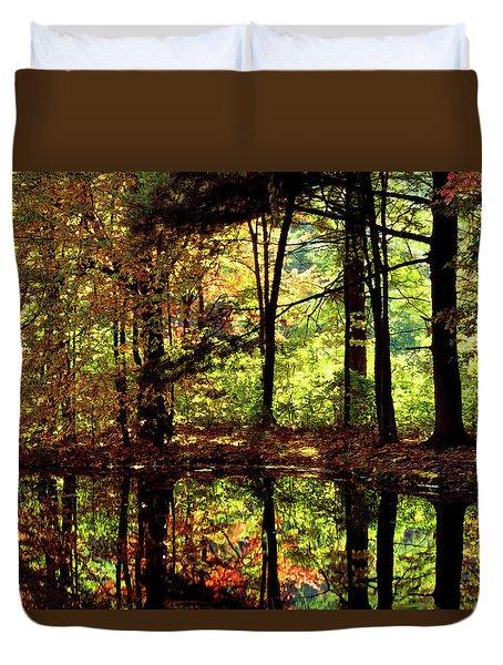 Bernharts Dam Fall 006 Duvet Cover by Scott McAllister