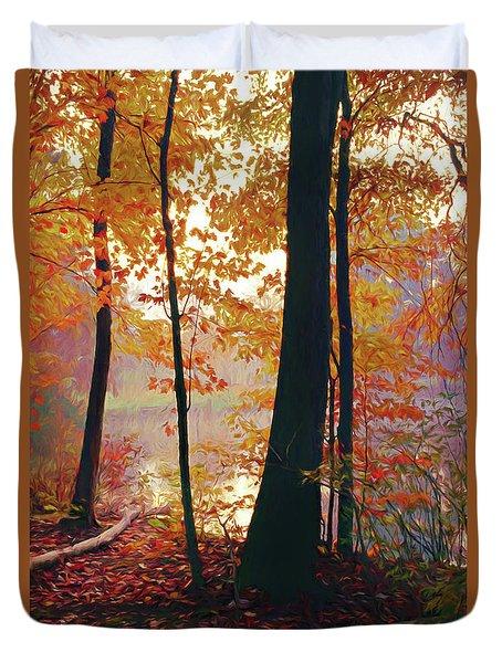 Bernharts Dam Fall 031 Duvet Cover by Scott McAllister