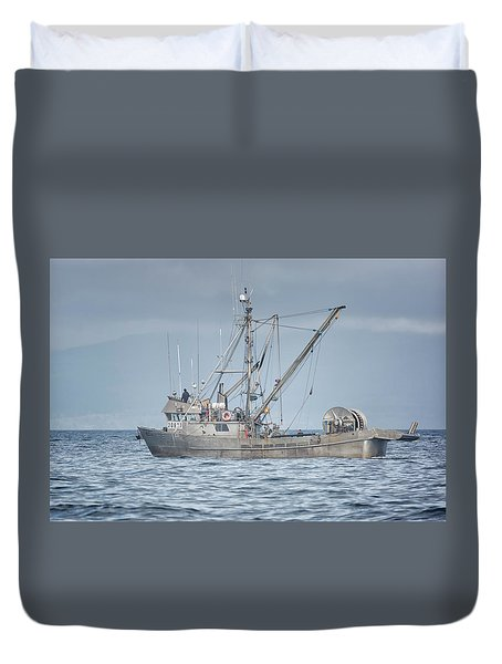 Duvet Cover featuring the photograph Bernice C by Randy Hall