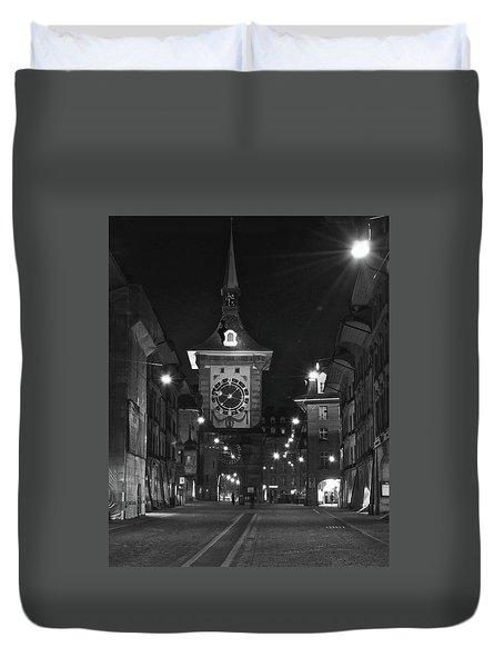 Bern's Clock Tower Duvet Cover