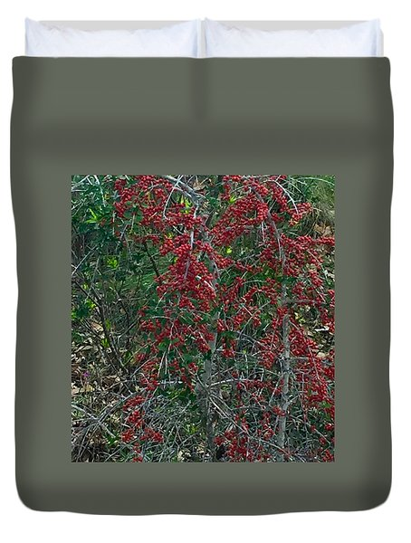 Berries In Styx Duvet Cover