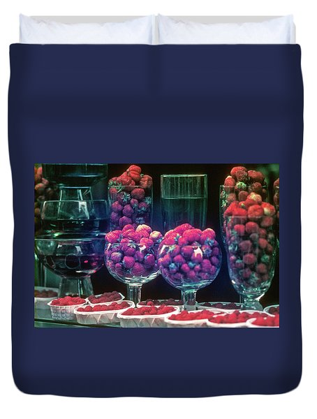 Berries In The Window Duvet Cover