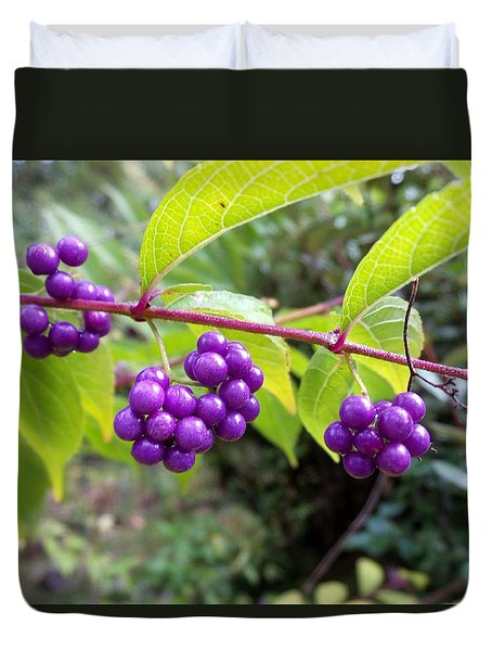 Berries Duvet Cover by Rosie Brown