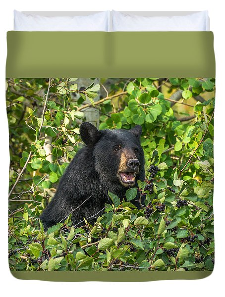 Duvet Cover featuring the photograph Berry Good by Yeates Photography