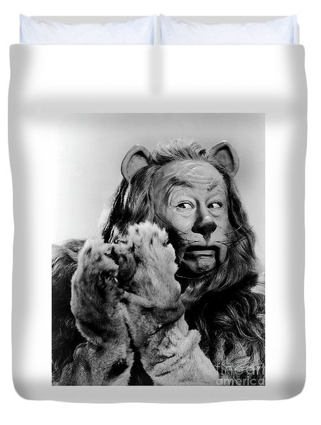 Cowardly Lion In The Wizard Of Oz Duvet Cover