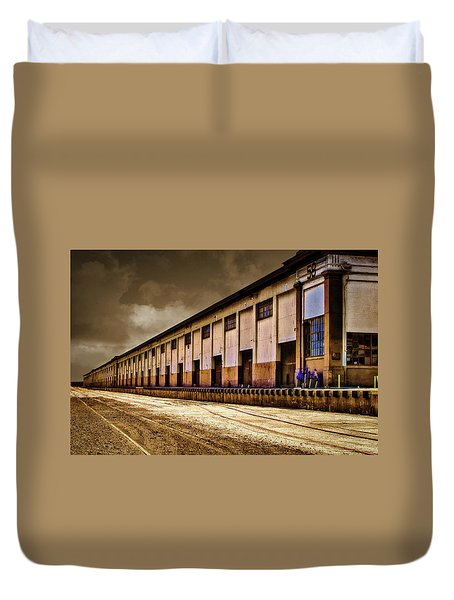 Berth 58 Port Of Los Angeles Duvet Cover by Joseph Hollingsworth