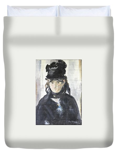 Duvet Cover featuring the painting Berthe Morisot by Stan Tenney
