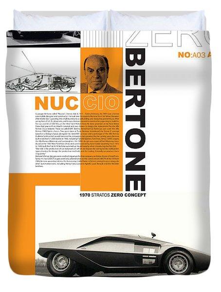 Bertone Poster Duvet Cover