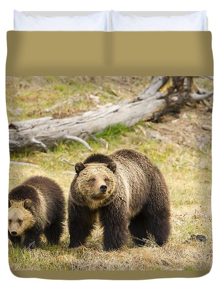 Duvet Cover featuring the photograph Beryl by Aaron Whittemore