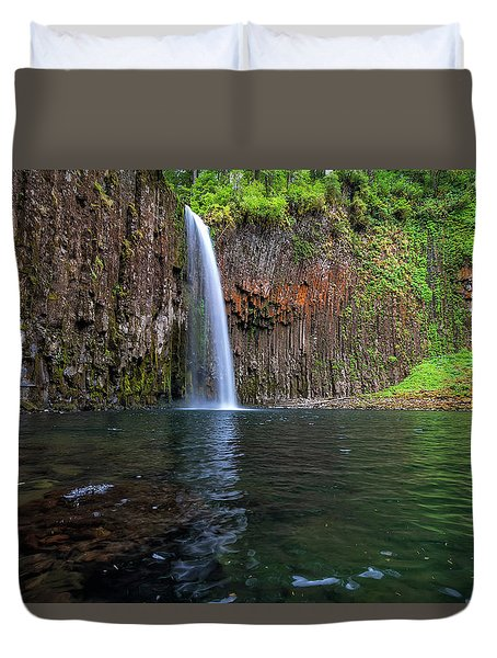 Beside Abiqua Falls In Summer Duvet Cover by David Gn