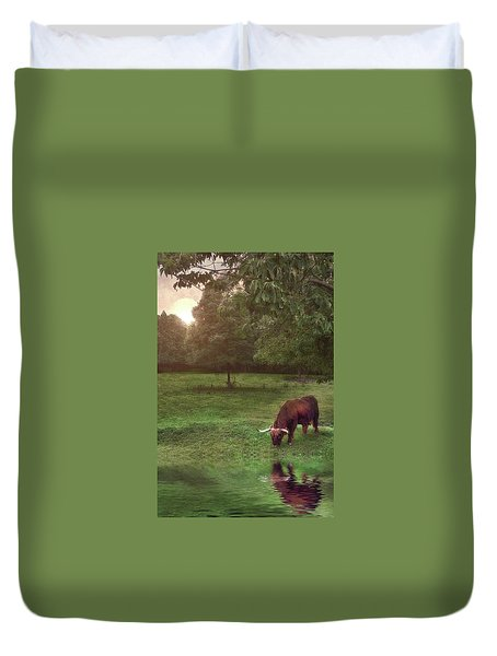 Duvet Cover featuring the photograph Beside Still Waters by Mark Fuller