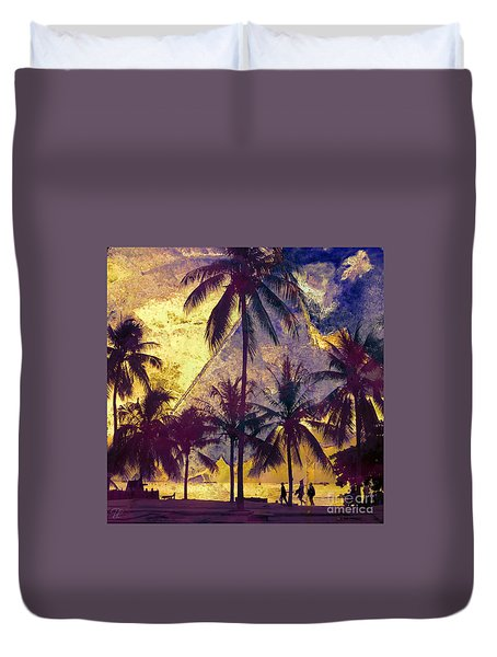 Duvet Cover featuring the photograph Beside The Sea by LemonArt Photography