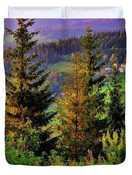 Duvet Cover featuring the photograph Beskidy Mountains by Mariola Bitner