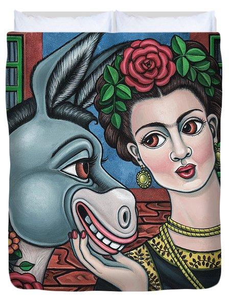 Beso Or Fridas Kisses Duvet Cover
