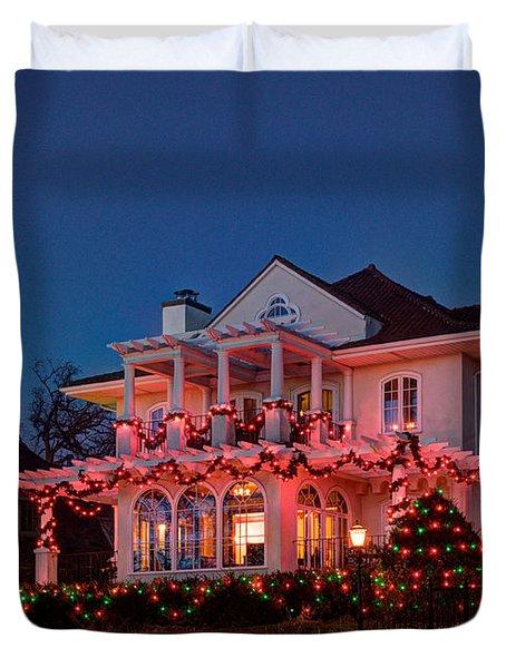 Best Christmas Lights Lake Of The Isles Minneapolis II Duvet Cover