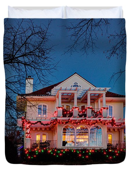 Best Christmas Lights Lake Of The Isles Minneapolis Duvet Cover