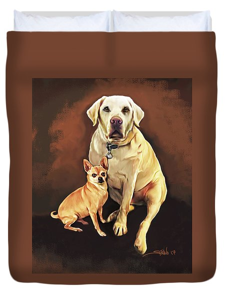 Best Friends By Spano Duvet Cover by Michael Spano