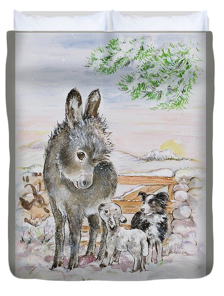 Best Friends Duvet Cover by Diane Matthes