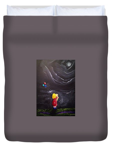 Duvet Cover featuring the painting Best Friends by Scott Wilmot