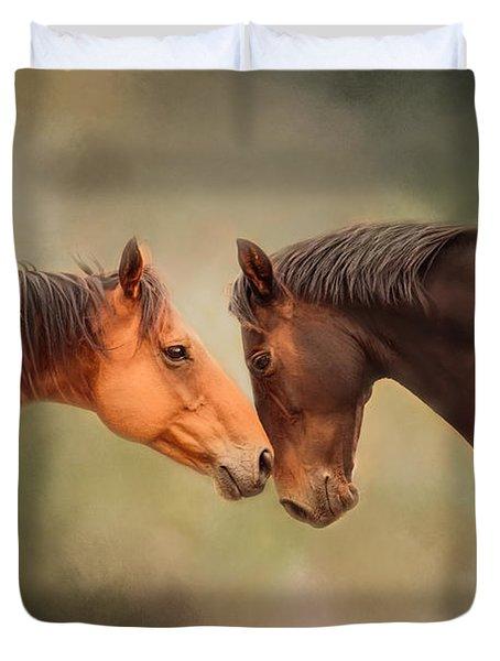 Best Friends - Two Horses Duvet Cover