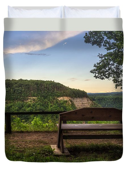 Duvet Cover featuring the photograph Best Seat In The House by Mark Papke