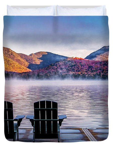 Best Seats In The Adirondacks Duvet Cover
