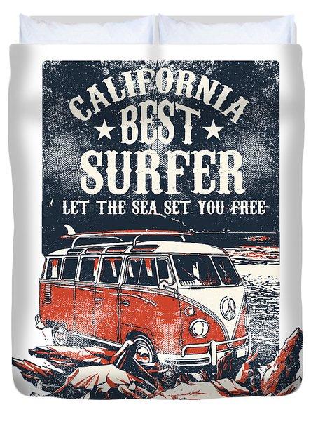 Best Surfer Duvet Cover