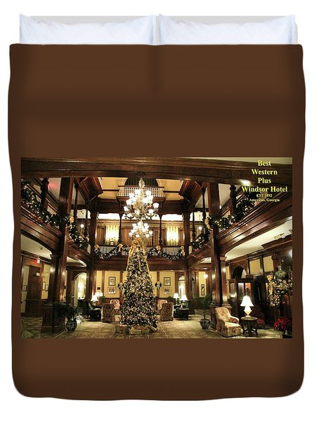 Best Western Plus Windsor Hotel Lobby - Christmas Duvet Cover