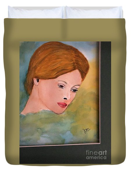 Duvet Cover featuring the painting Beth by Donald Paczynski