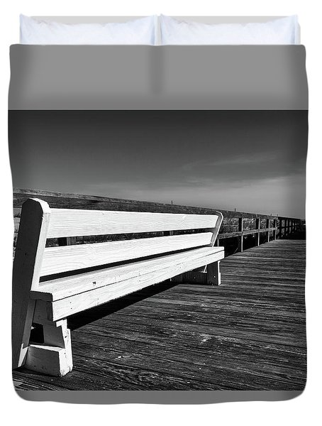 Bethany Beach Boardwalk Duvet Cover