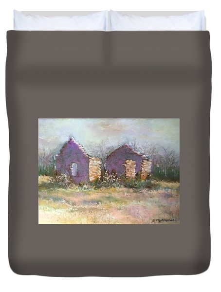 Bethel School At Sunset Duvet Cover by Rebecca Matthews