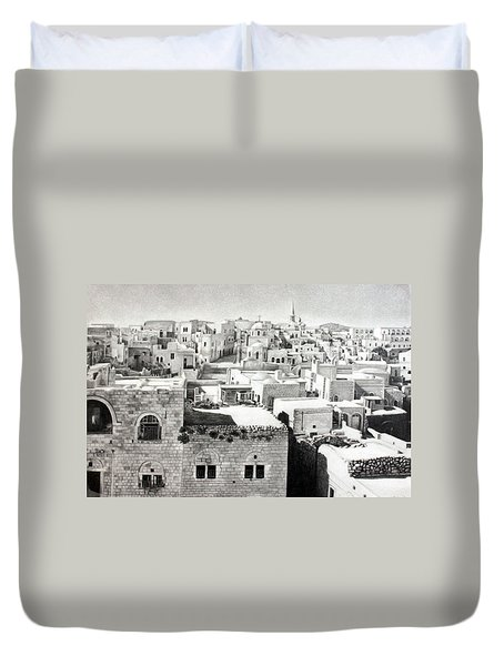 Bethlehem Old Town Duvet Cover by Munir Alawi