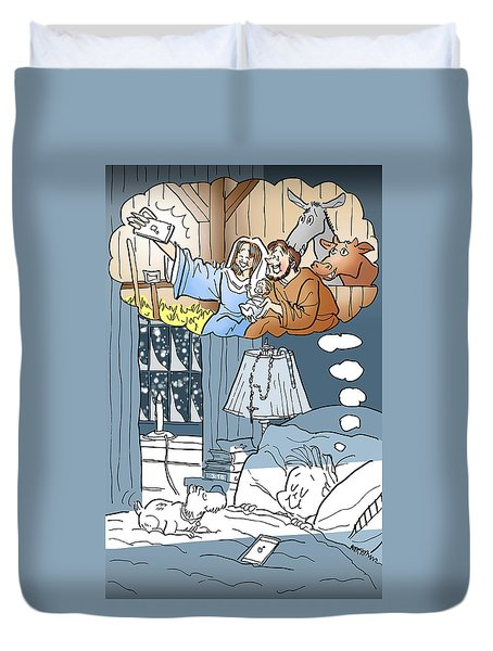 Nativity Selfie Duvet Cover