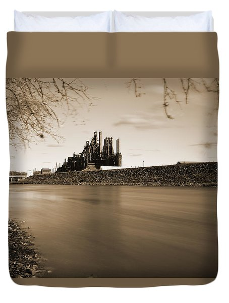 Bethlehem Steel Along The Lehigh Duvet Cover