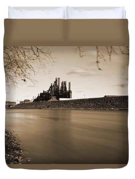 Bethlehem Steel Along The Lehigh Duvet Cover