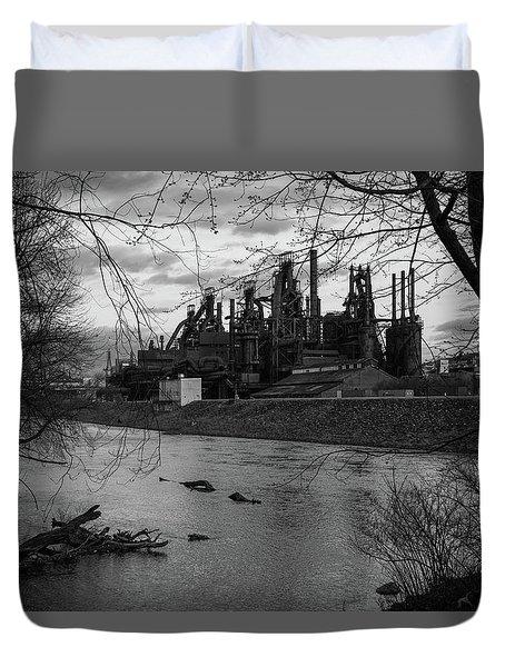 Bethlehem Steel Bw Duvet Cover