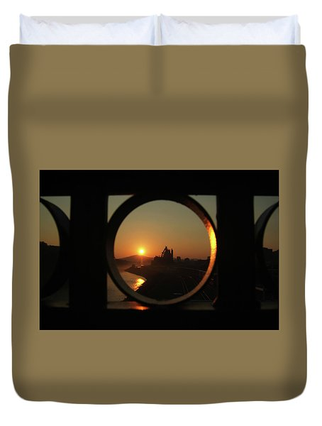 Bethlehem Sunrise Framed Duvet Cover