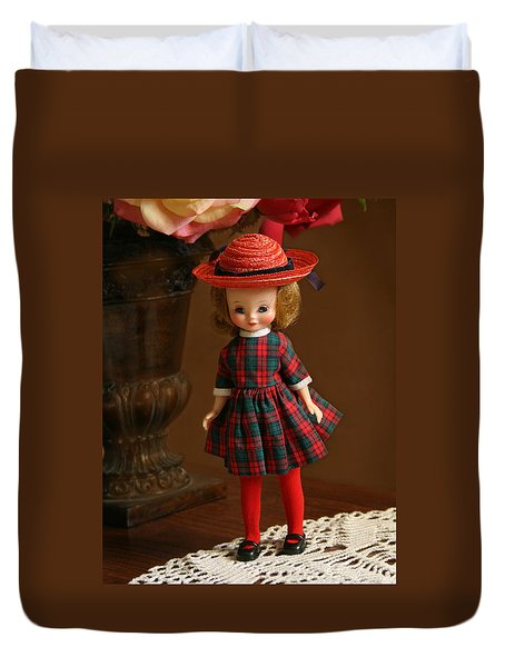 Betsy Doll Duvet Cover by Marna Edwards Flavell