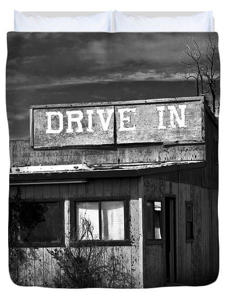 Better Days - An Old Drive-in Duvet Cover